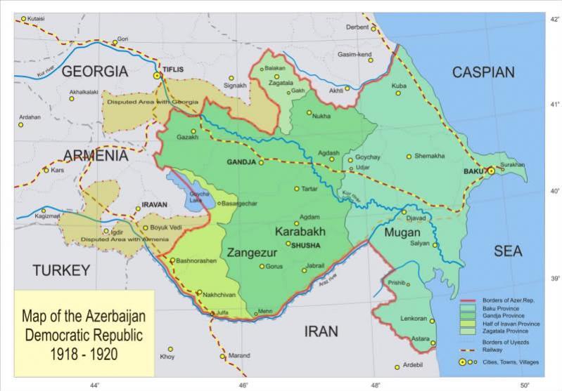 Karabakh in period of Azerbaijan Democratic Republic (1918-1920)